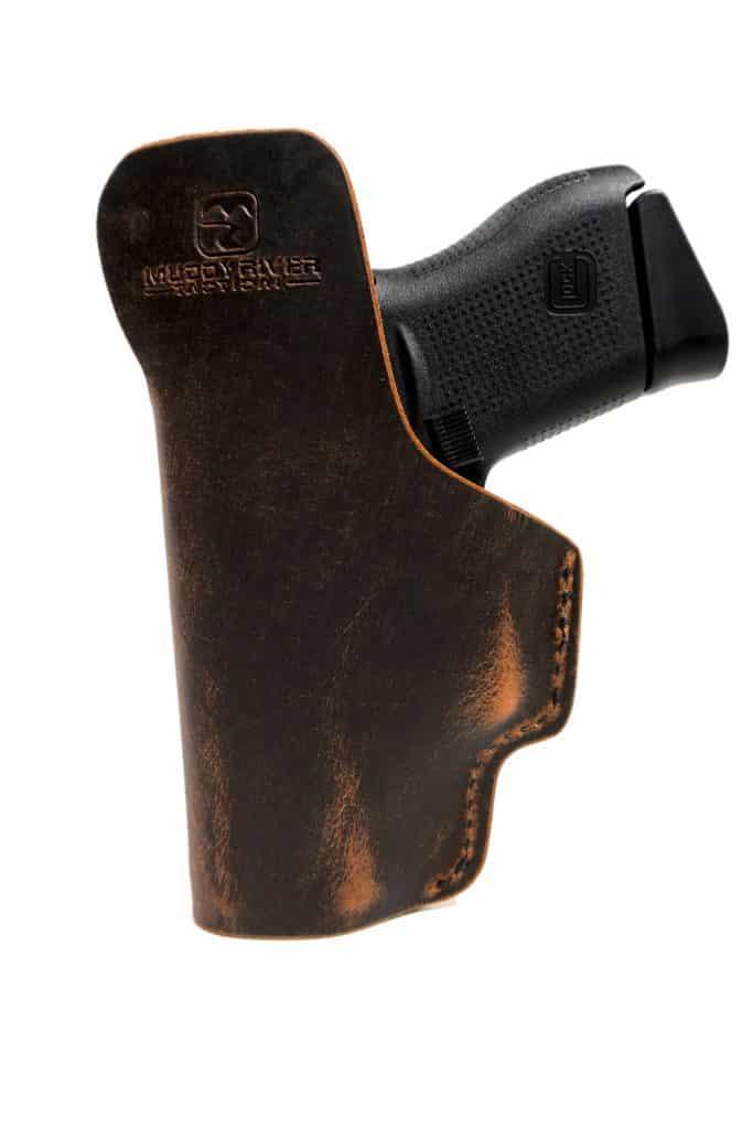 "Made in U.S.A. Leather Concealed Cowboy Defender 3/"" R-Handed Holster PROBAG"